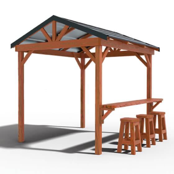 BBQ Hut Timber Gazebo