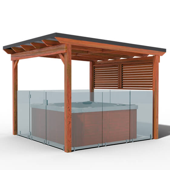 Sunlounger Pool Compliant Gazebo